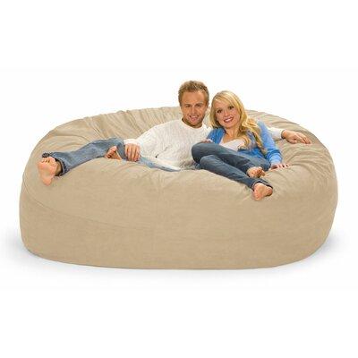 Giganti Bean Bag Sofa Upholstery: Sand Microfiber