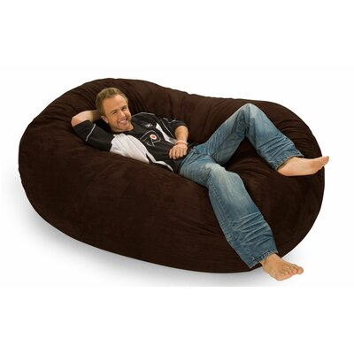 Colossa Bean Bag Sofa Upholstery: Brown Microfiber