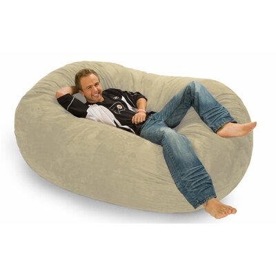 Colossa Bean Bag Sofa Upholstery: Sand Microfiber