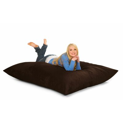Bean Bag Lounger Upholstery: Brown Microfiber