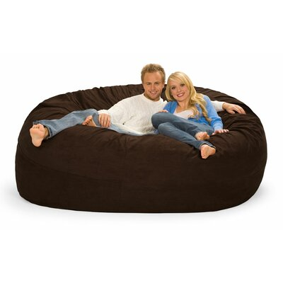 Giganti Bean Bag Sofa Upholstery: Brown Microfiber