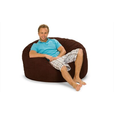 Gianti Bean Bag Lounger Upholstery: Brown Microfiber