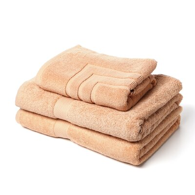 Ring Spun Cotton Line 3 Piece Towel Set Color: Champagne