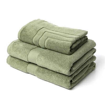Ring Spun Cotton Line 3 Piece Towel Set Color: Sage