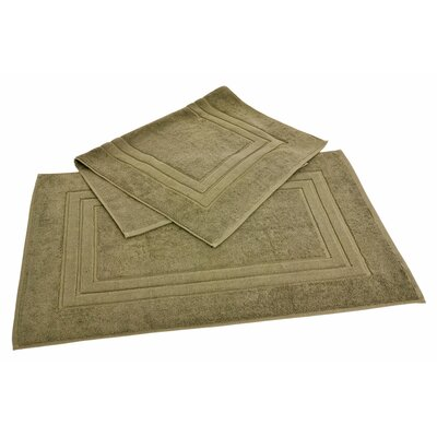 All American Cotton Line 100% Supima Cotton Bath Mat Color: Sage