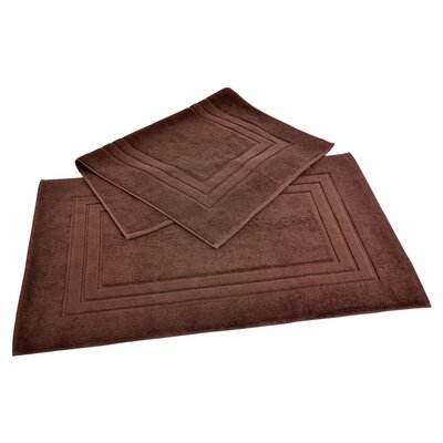 Ring Spun Cotton Line 100% Pima Cotton Bath Mat Color: Coffee Bean