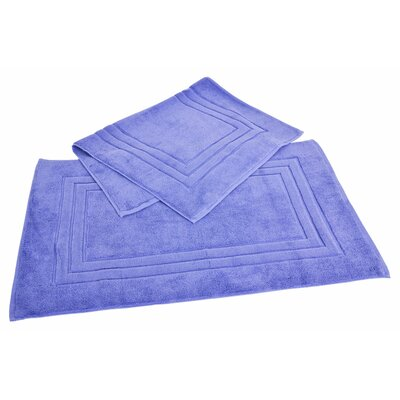 Ring Spun Cotton Line 100% Pima Cotton Bath Mat Color: Morning Glory