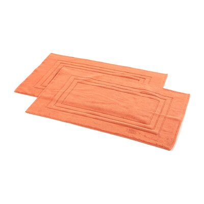 Ring Spun Cotton Line 100% Pima Cotton Bath Mat Color: Papaya