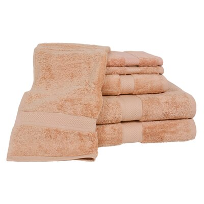 Ring Spun Cotton Line 100% Pima Cotton 6 Piece Towel Set Color: Champagne