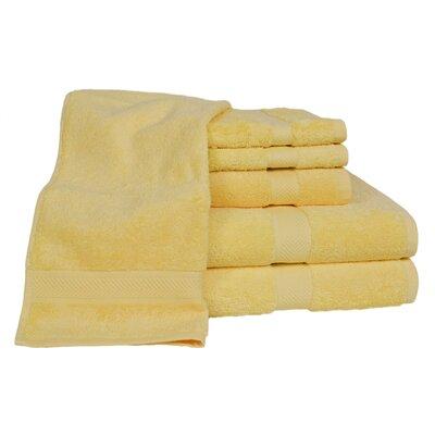 Ring Spun Cotton Line 100% Pima Cotton 6 Piece Towel Set Color: Sunflower