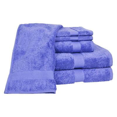 Ring Spun Cotton Line 100% Pima Cotton 6 Piece Towel Set Color: Morning Glory
