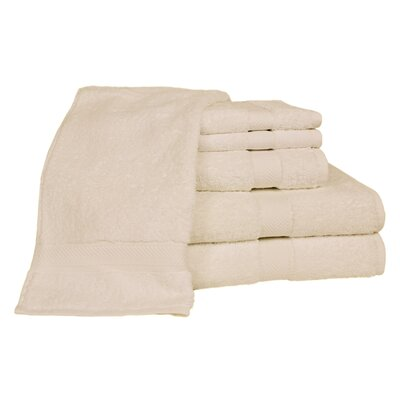 Ring Spun Cotton Line 100% Pima Cotton 6 Piece Towel Set Color: Ivory