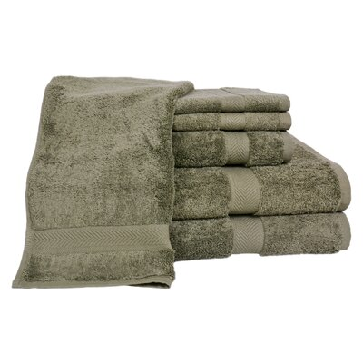 All American Cotton Line 100% Supima Cotton 6 Piece Towel Set Color: Sage