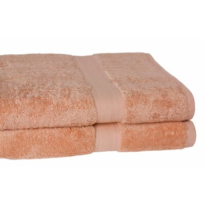 Ring Spun Cotton Line Bath Towel Color: Champagne