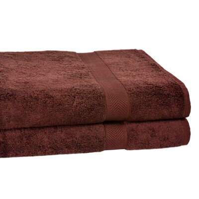 All American Cotton Line Bath Towel Color: Coffee Bean