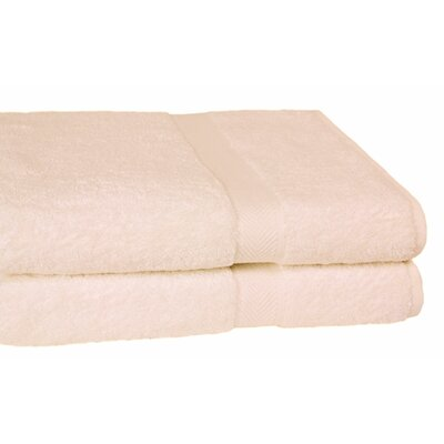 Ring Spun Cotton Line Bath Towel Color: Ivory