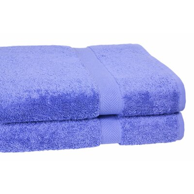 Ring Spun Cotton Line Bath Towel Color: Morning Glory