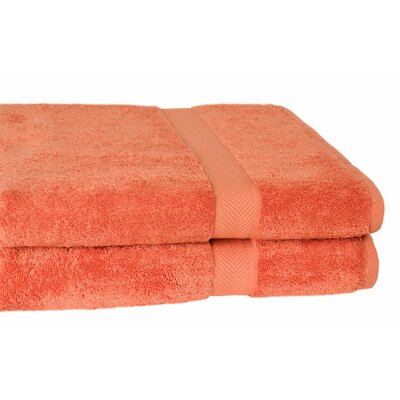 All American Cotton Line Bath Towel (Set of 2) Color: Papaya