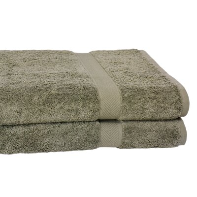 Ring Spun Cotton Line Bath Towel Color: Sage