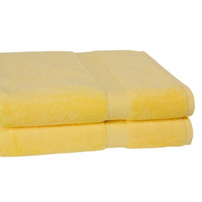 Ring Spun Cotton Line Bath Towel Color: Sunflower