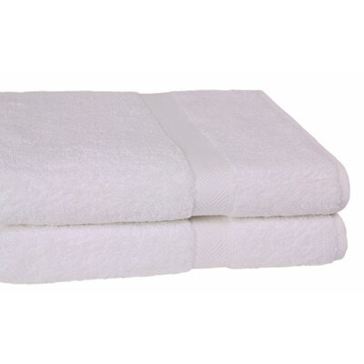 Ring Spun Cotton Line Bath Towel Color: White