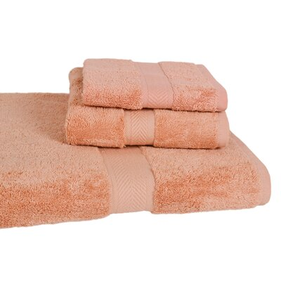 Ring Spun Cotton Line Towel Set Color: Champagne