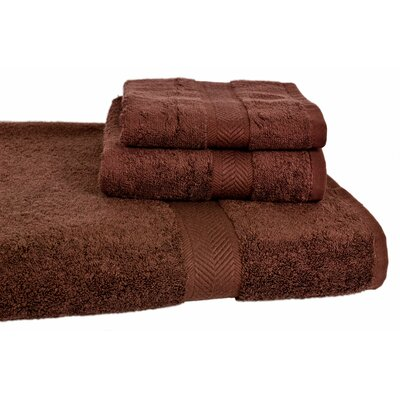 Ring Spun Cotton Line Towel Set Color: Coffee Bean