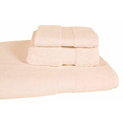 Ring Spun Cotton Line Towel Set Color: Ivory