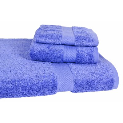 Ring Spun Cotton Line 3 Piece Towel Set Color: Morning Glory