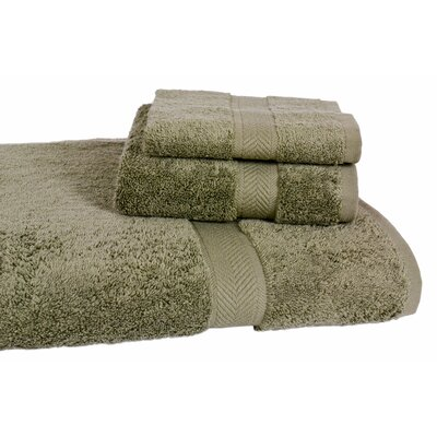 Ring Spun Cotton Line Towel Set Color: Sage
