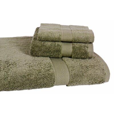 Ring Spun Cotton Line 3 Piece Towel Set Color: Sage