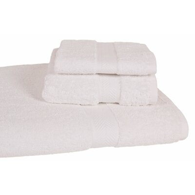 Ring Spun Cotton Line Towel Set Color: White