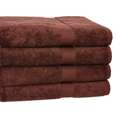 Ring Spun Cotton Line Bath Towel Towel Set Color: Coffee Bean