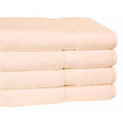 Ring Spun Cotton Line Bath Towel Towel Set Color: Ivory