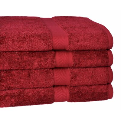 All American Cotton Line Bath Towel Color: Pomegranate