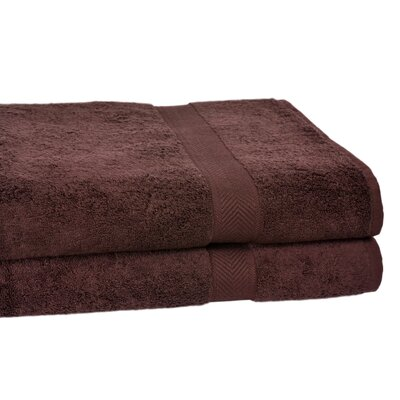 Ring Spun Cotton Line 10 Bath Sheet Color: Coffee Bean