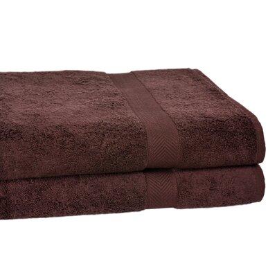 All American Cotton Line 10 Bath Sheet Color: Coffee Bean