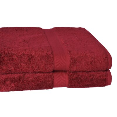 All American Cotton Line 10 Bath Sheet Color: Pomegranate