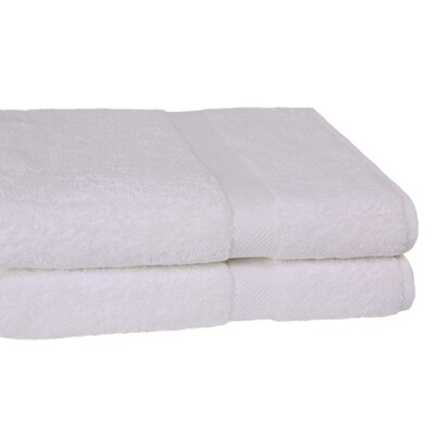 Ring Spun Cotton Line 10 Bath Sheet Color: White