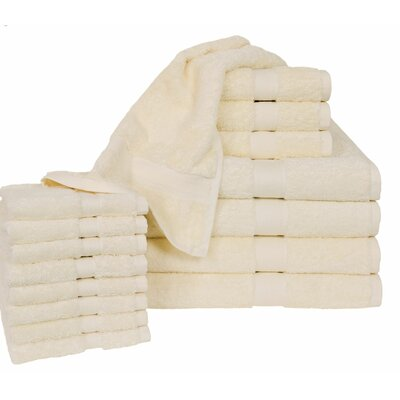 Ring Spun Cotton Line 16 Piece Towel Set