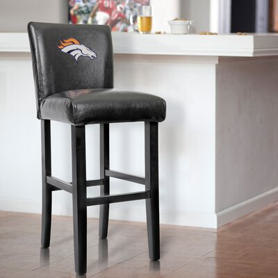 30 Upholstered Bar Stool NFL Team: Dever Broncos