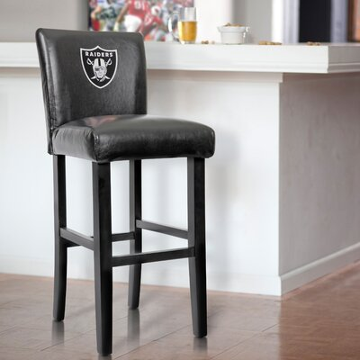 30 Upholstered Bar Stool NFL Team: Oakland Raiders