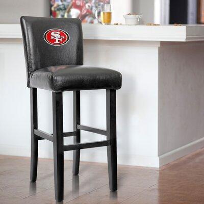 30 Upholstered Bar Stool NFL Team: San Franscisco 49ers