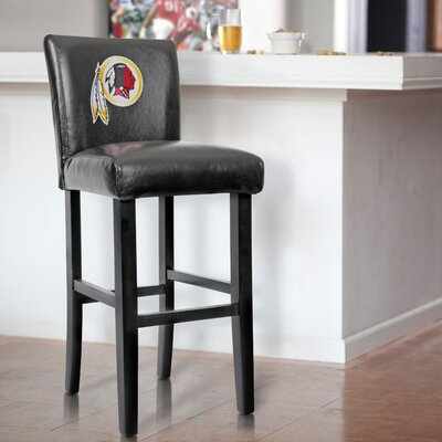 30 Upholstered Bar Stool NFL Team: Washington Redskins