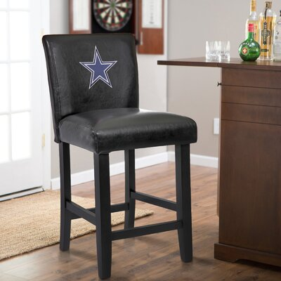 24 Upholstered Bar Stool NFL Team: Dallas Cowboy