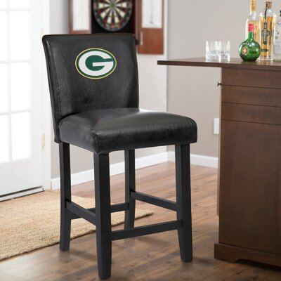 24 Upholstered Bar Stool NFL Team: Green Bay Packers