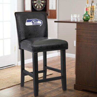 24 Upholstered Bar Stool NFL Team: Seattle Seahawks