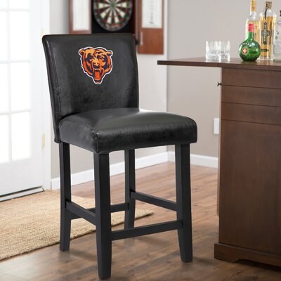 24 Upholstered Bar Stool NFL Team: Chicago Bears