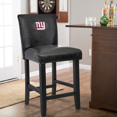24 Upholstered Bar Stool NFL Team: New York Giants