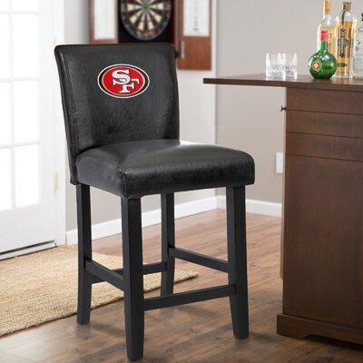 24 Upholstered Bar Stool NFL Team: San Franscisco 49ers